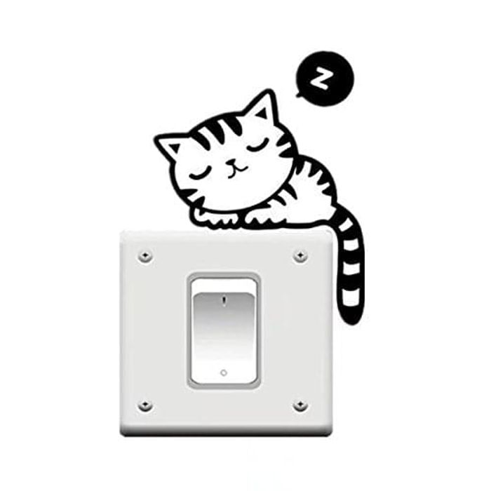 Cat Nap Pet Light Switch Sticker