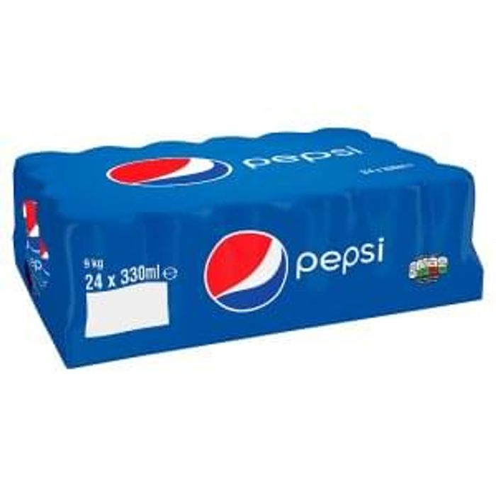 24 pack PEPSI cans 330ml at Iceland