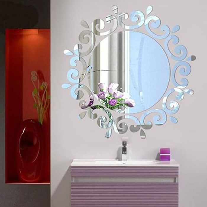 3D Mirror Effect Wall Stickers