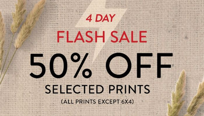 50% off all prints (except 6x4)