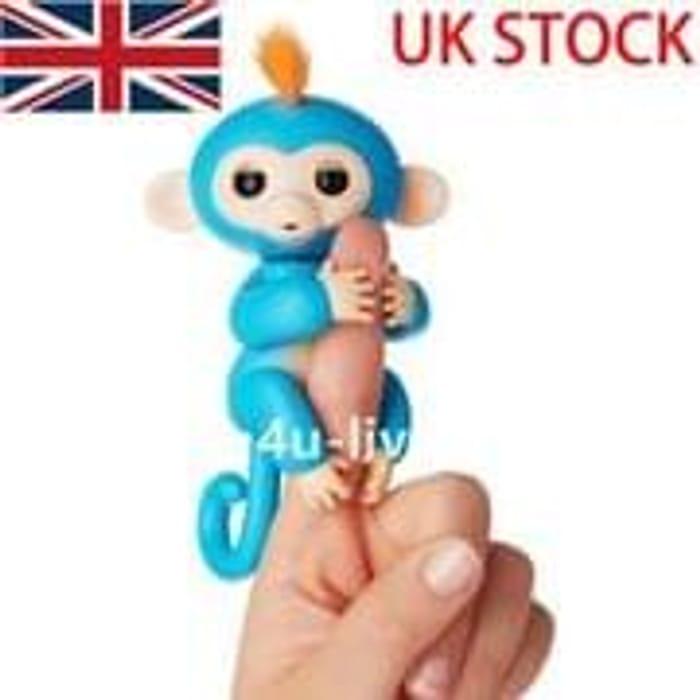 Blue Fingerlings Pet Electronic Little Baby Monkey Children Kids Toy