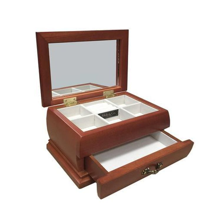 Mele & Co Real Wood Trinket Jewellery Box inc Free Delivery