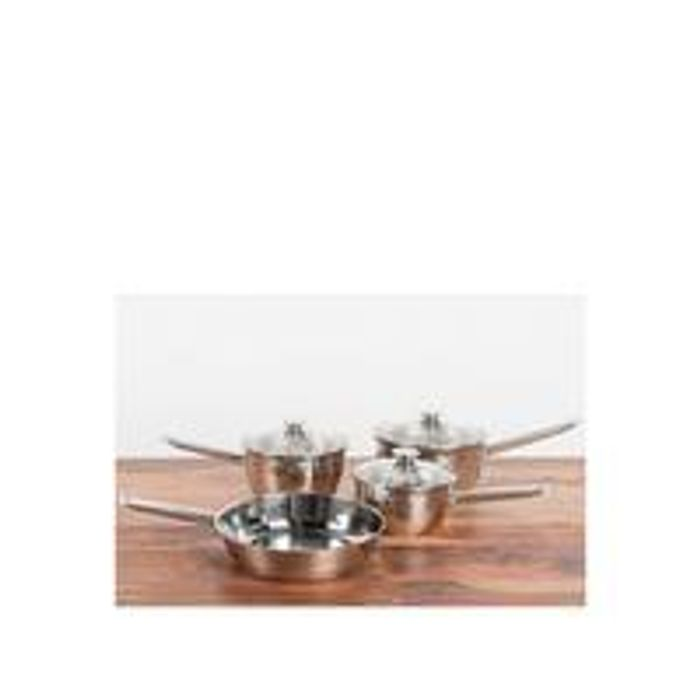 Sabichi copper base 4 piece pan set