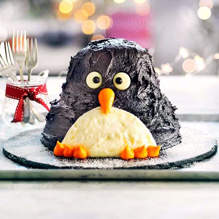 Penny the Penguin Cake by Sainsbury's