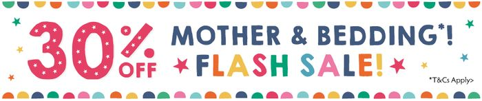 Flash Sale! 30% off Mother and Bedding at Frugi