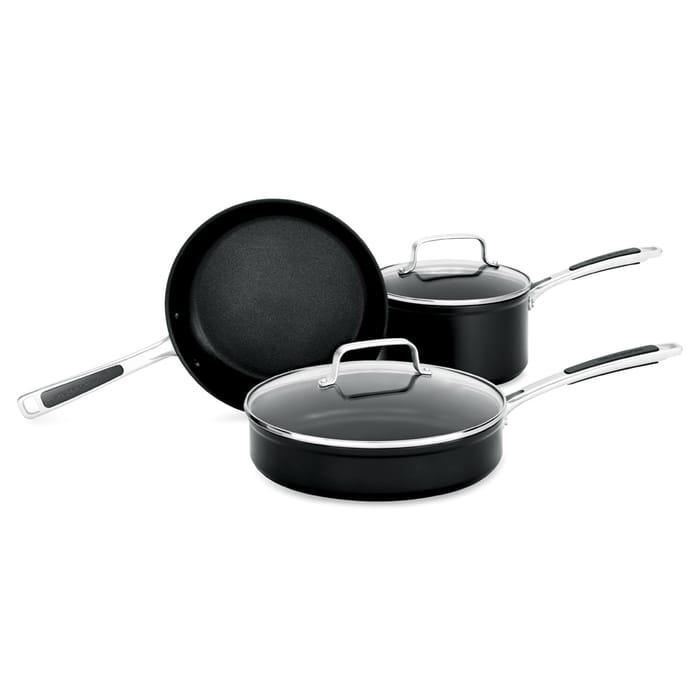 KitchenAid Hard Anodised 3 Piece Cookware Set