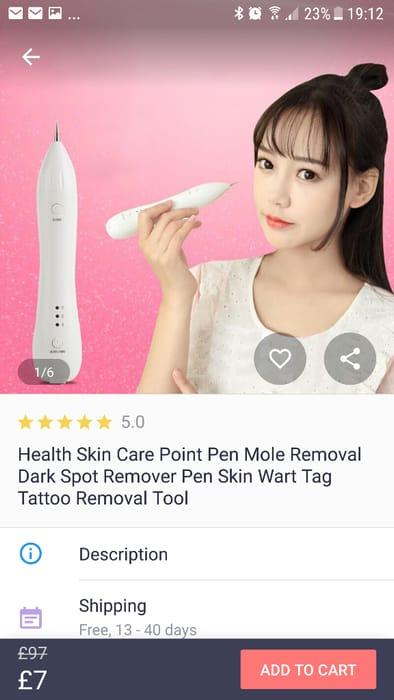 Mole removal pen