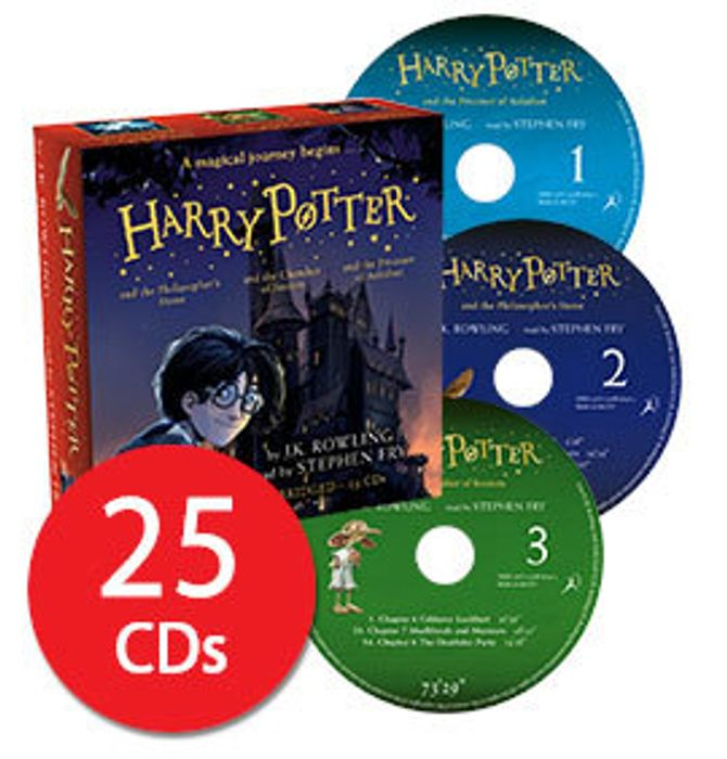 SAVE £73! Harry Potter Books 1-3 (Audio 25 CDs) Narrated by Stephen Fry