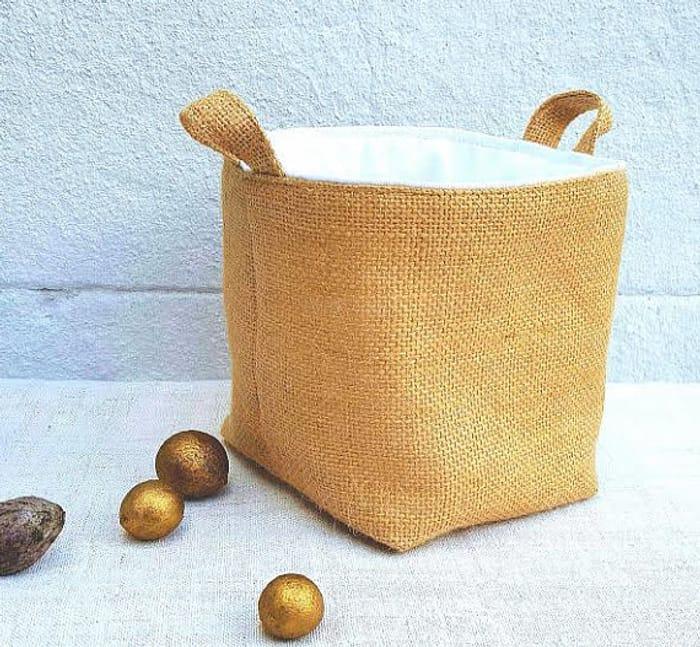 LUXURY HESSIAN BAG Pure Reversible Jute Burlap Storage Birthday Christmas Gift