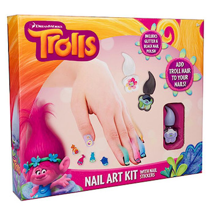 Trolls nail art kit