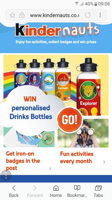 Win a Kids Personalised Water Bottle
