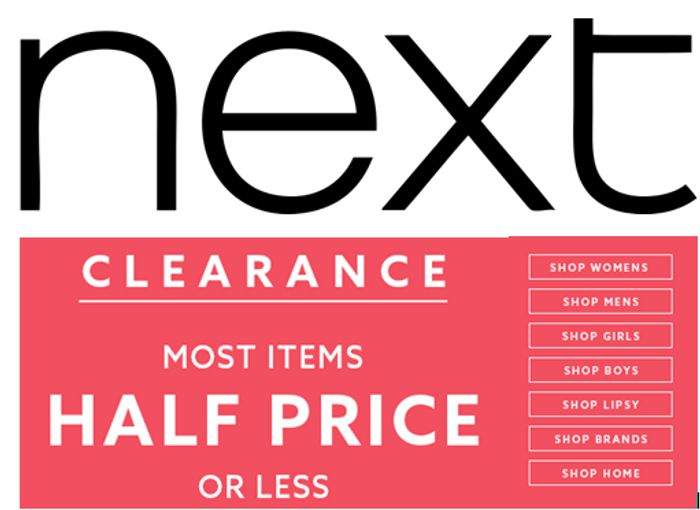 8b17f8e453d0d NEXT CLEARANCE - Most items HALF PRICE or LESS!, £8 | LatestDeals.co.uk