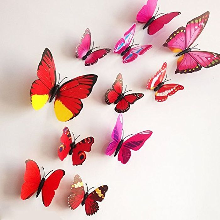 12 Piece 3D Butterfly Set Only 38p!