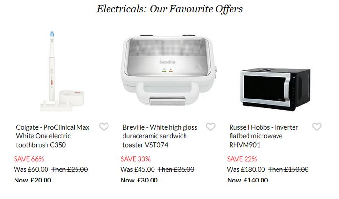 Up to 70% off Electrical Sale at Debenhams + extra 10% off £50 spend
