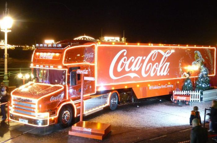free 150ml cola from the coca cola truck
