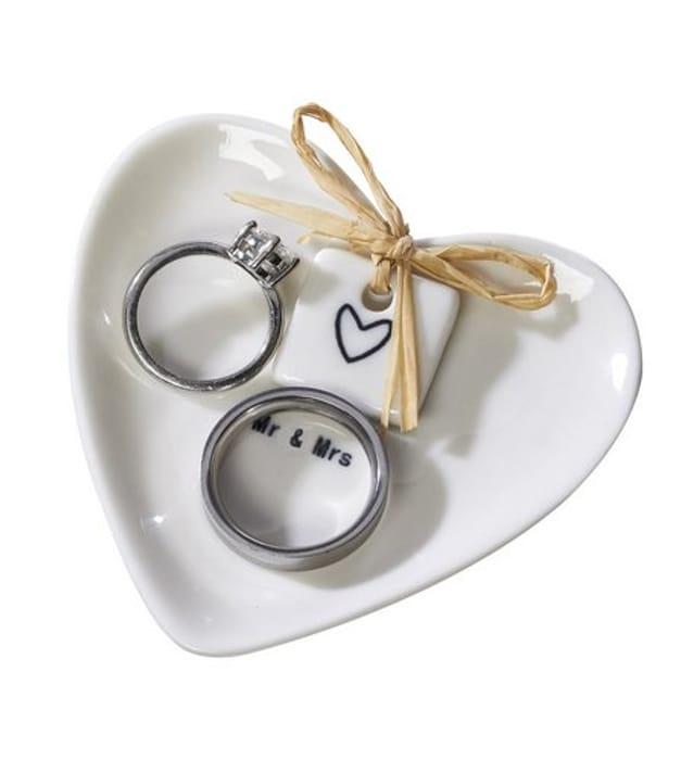 Mr & Mrs ring storing dish