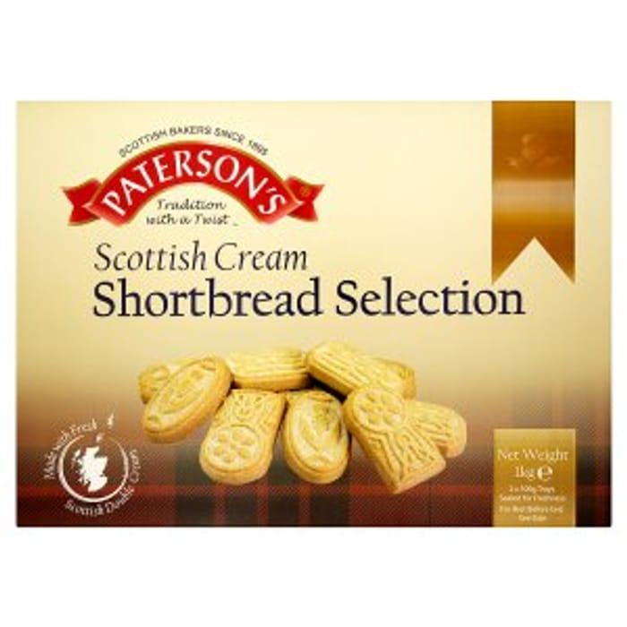 Paterson's Scottish Cream Shortbread Selection 2 x 500g (1kg)