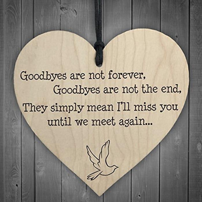lovely goodbye plaque