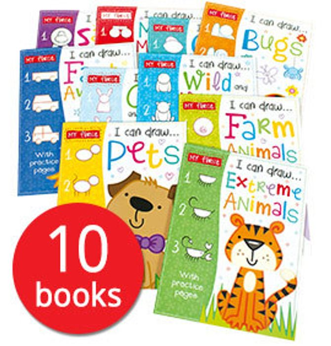I Can Draw Collection -10 Books