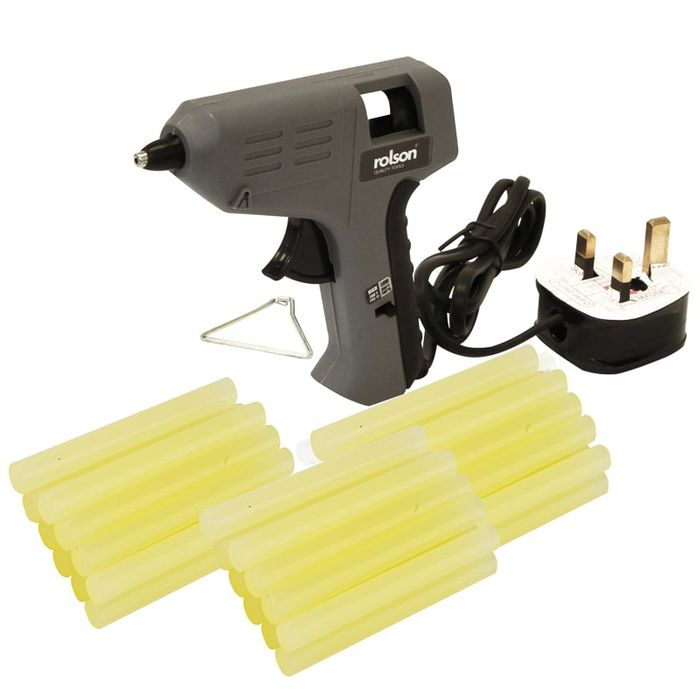 Rolson Glue Gun 240V + Glue Sticks 30pk