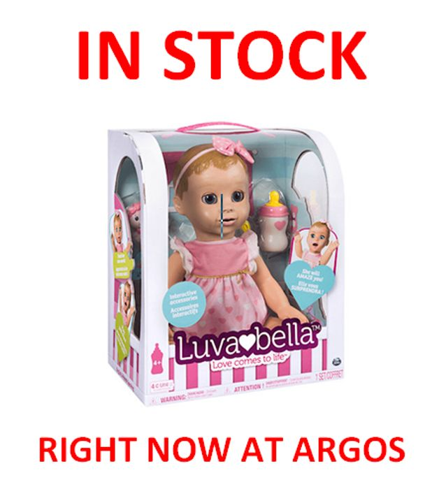Luvabella in Stock at Argos on Friday 3rd November Hurry