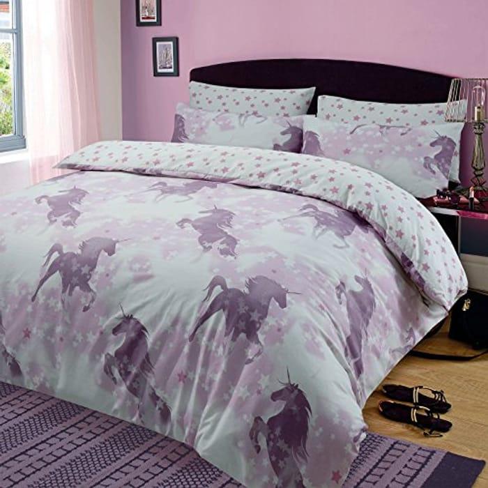 Unicorn Dreams Duvet Cover with Pillow Case