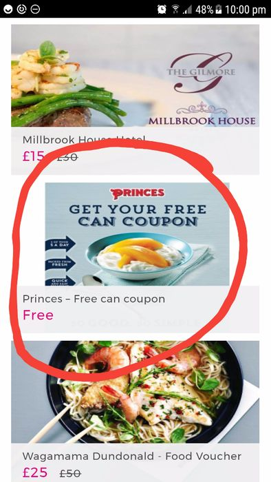 coupon food uk