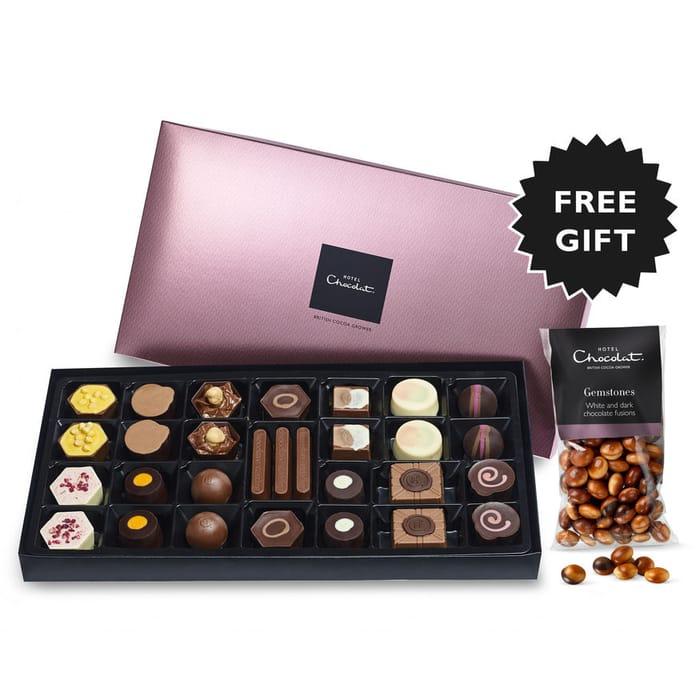 Get £22.95 Box of Hotel Chocolat Chocs plus Bag of Choc Gemstones