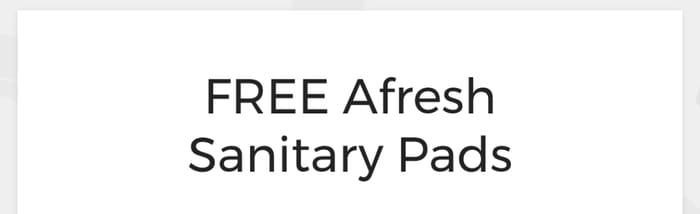 Free Sanitary Pads