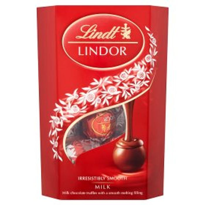 Lindt Lindor Milk Chocolate Carton 200g 4 Each Or 3 For 10