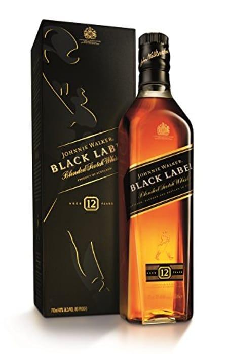 Johnnie Walker Black Label Blended Scotch Whisky, 70cl