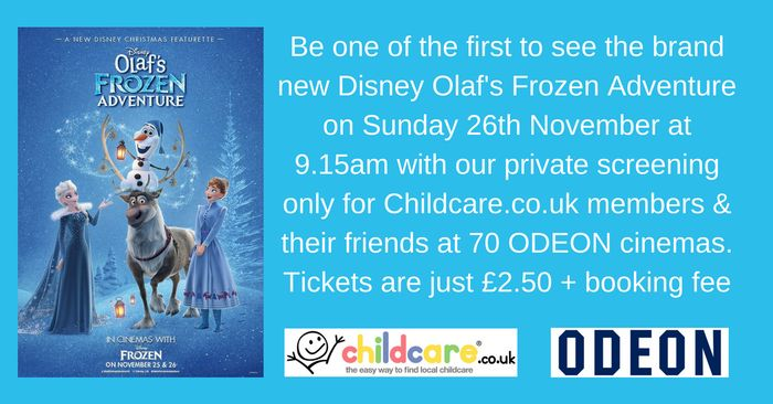 Special Screening of Frozen for 2.50 + Booking Fee