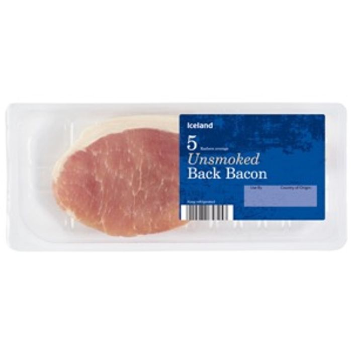 From Tommorow Iceland 5 Rasher Bacon Instore