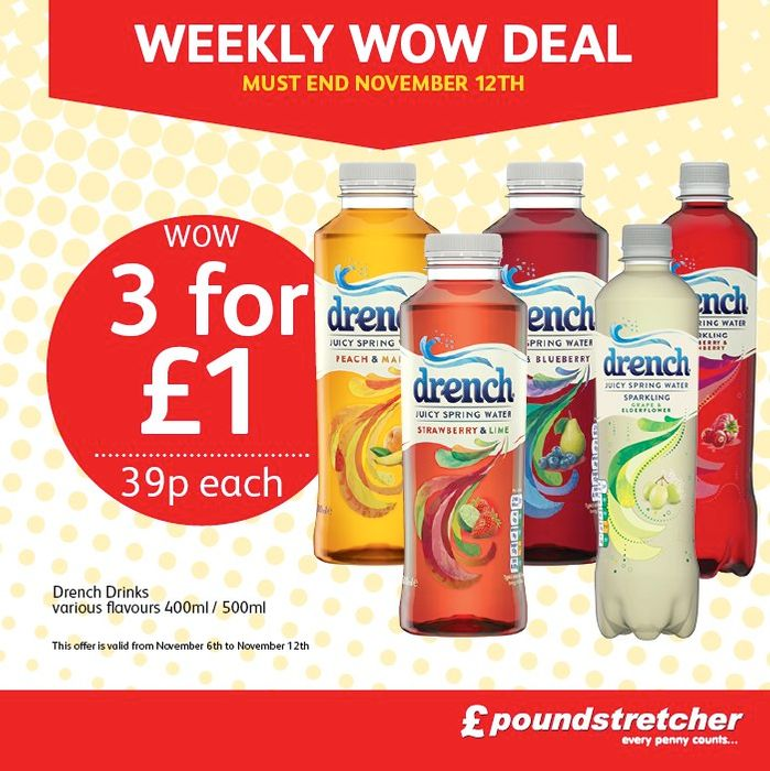 Bottles of Drench Are Just 3 for £1 or 39p Each!