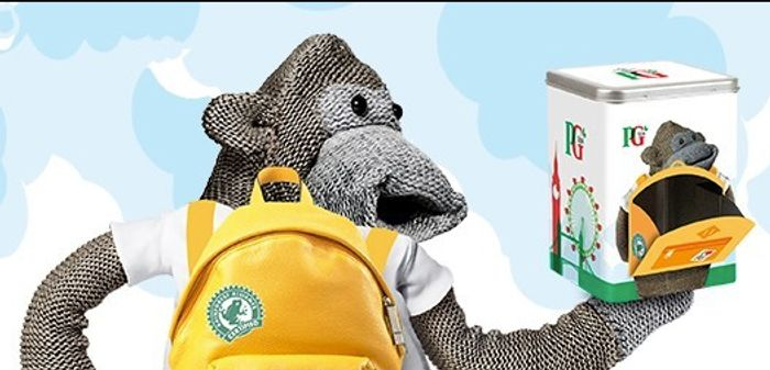 FREE PG Tips Tea Caddy & Free PG Tips Monkey Toy