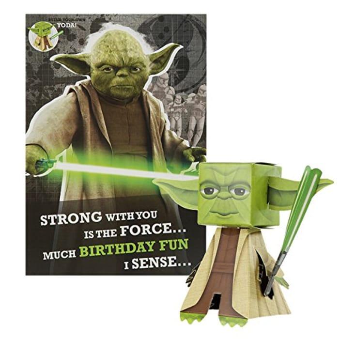 Hallmark Star Wars Build Your Own Yoda Birthday Card