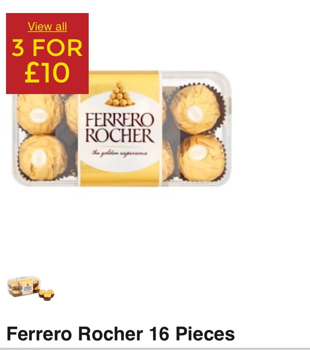 3 For 10 Mix Match On Branded Chocolate Boxes In Asda
