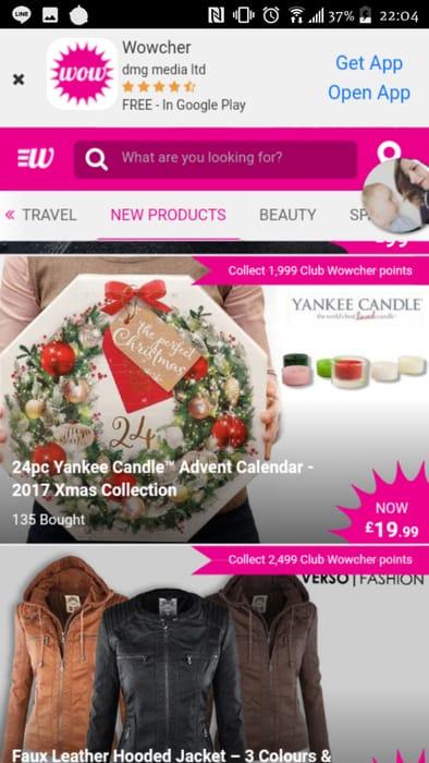 Yankee 24pc Advent Calendar Tea Lights