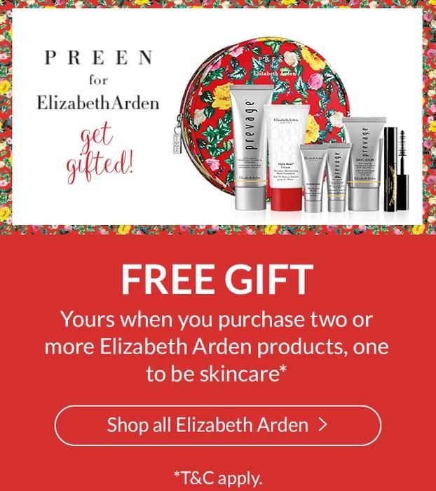 FREE Elizabeth Arden Designer Gift Set worth £104 When You Purchase 2 Items