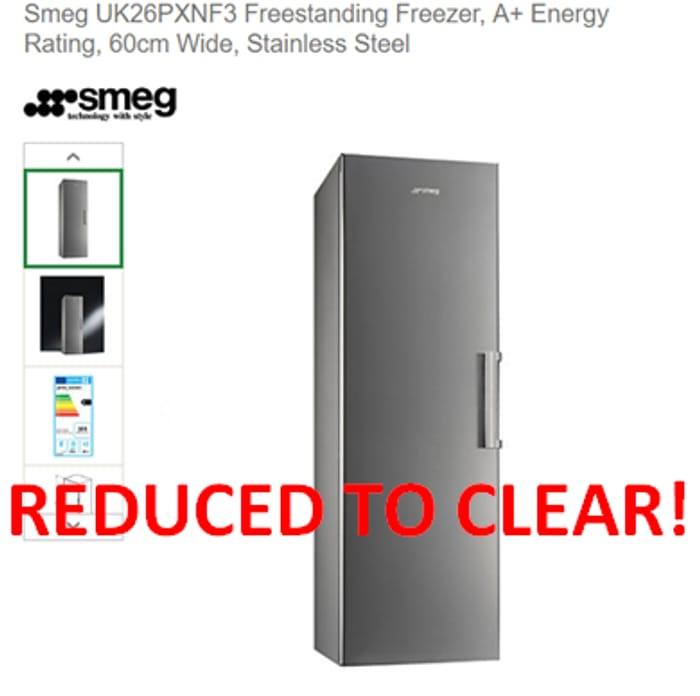 REDUCED to CLEAR at JOHN LEWIS! Smeg Freestanding Freezer