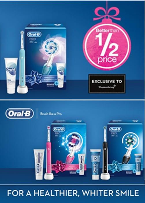 SUPERDRUG OFFER! HALF PRICE Oral B Electric Toothbrushes & Refills