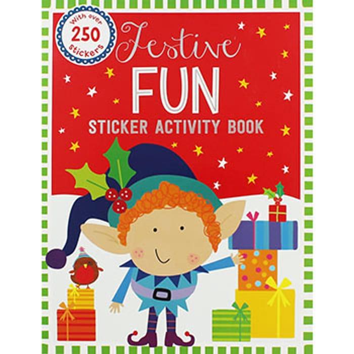 Elf Festive Sticker Activity Book