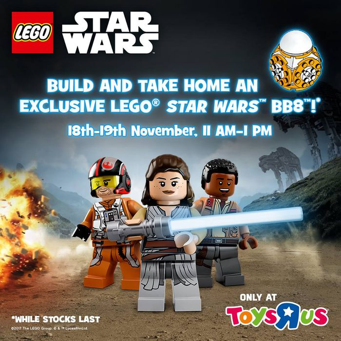 FREE LEGO BB-8 Make & Take In-Store at Toys R Us