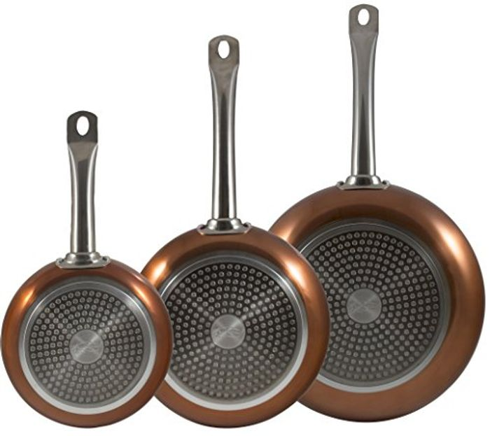 Copper Frying Pan Set INDUCTION Non Stick - BETTER than HALF PRICE