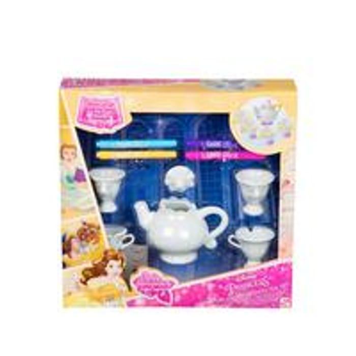 Disney Princess Belle Colour Your Own Mrs Pots and Chip Tea Set
