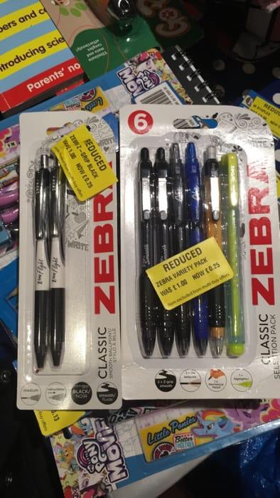Zebra Pens and Pencil Packs