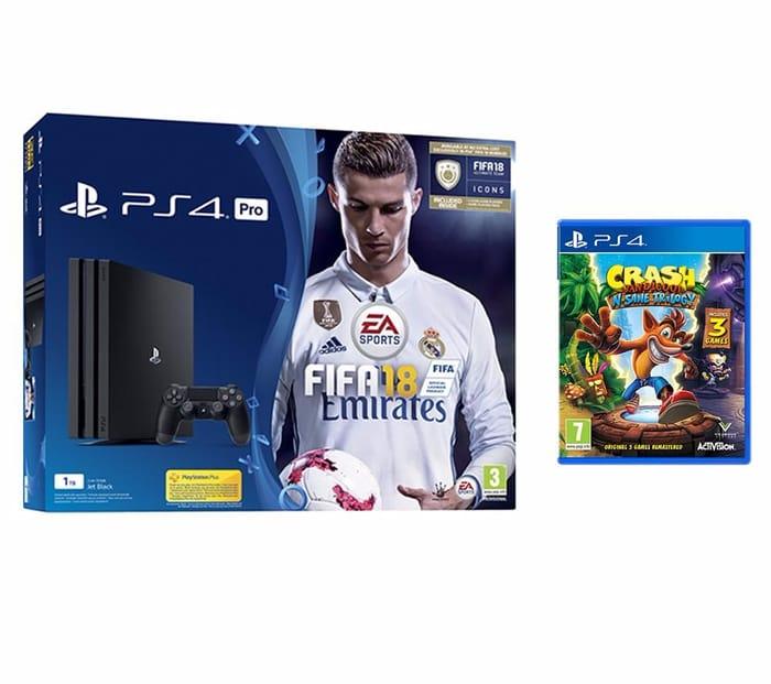 PS4 Pro 1TB + Fifa 18 + Crash Bandicoot N Sane Trilogy