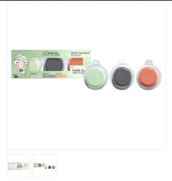 L'Oreal Paris Pure Clay Multi-Masking Play Kit 3x10ml