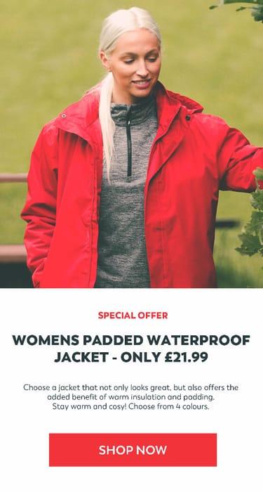 Trespass - WOMENS PADDED WATERPROOF JACKET £21.99