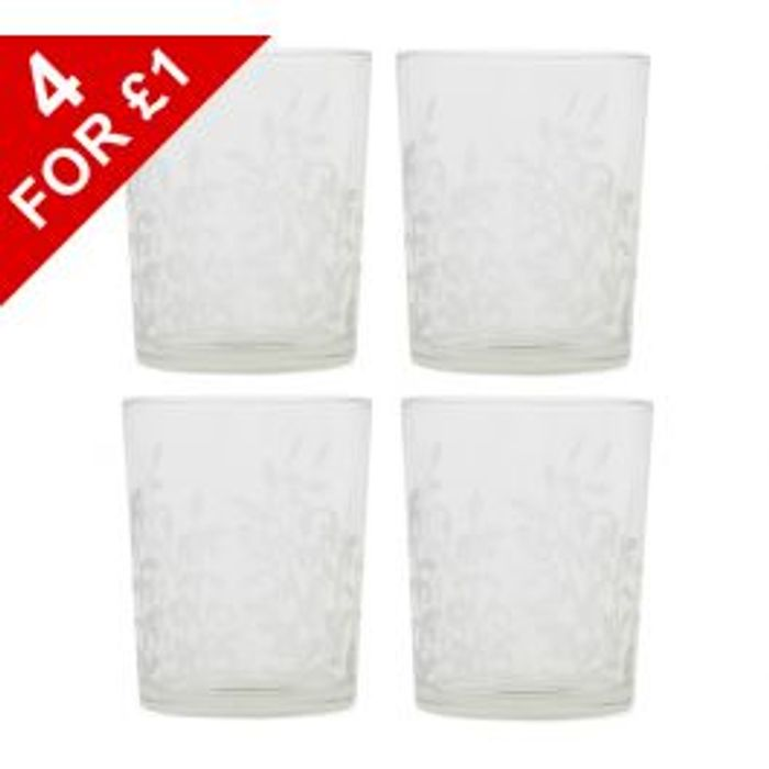 4 X Yankee Frosted Leaf Votive Holder 25p Each